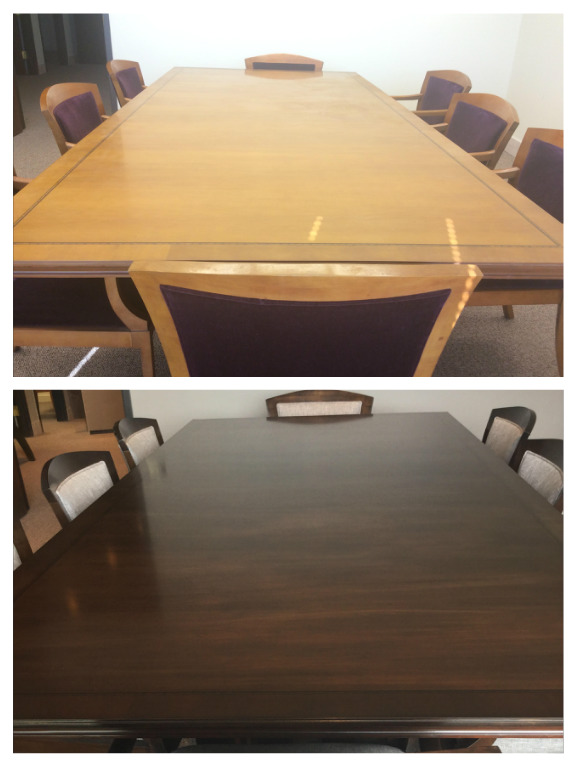 Conference Table Refinishing Westwood Restorations